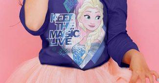Et la magie s'opère avec les vêtements Reine des Neiges